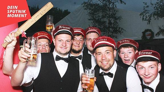 Partygäste aus Friemar.
