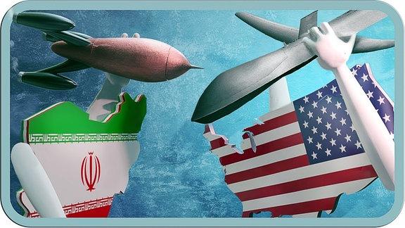 Drohne und Bombe