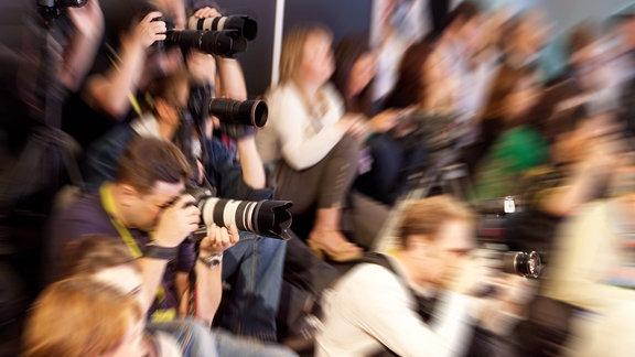 Fotografen bei einem Presse-Event