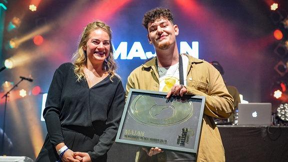 Majan, Newcomer des Jahres 2019 beim NEW MUSIC AWARD. Er wurde nominiert für DASDING.
