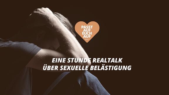 """Symbolbild/Thumbnail für den Passt Auf Euch Auf-Schwerpunkt """"Sexuelle Belästigung""""."""