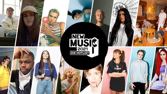 Merk dir diese Newcomer*innen, denn sie werden 2021 die neuen Stars der Musikbranche: badmómzjay, Céline, Clide, Emily Roberts, Hava, Jeremias, LARI LUKE, LUNA, Lune, Moglii, Schmyt, Sero, Symba, Telquist, WizTheMc.