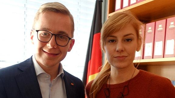 Philipp Amthor mit Eva Schulz