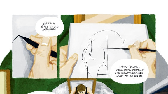 """Leseprobe der Graphic Novel """"Bei mir zuhause"""""""