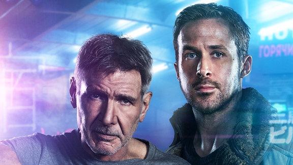 Die Blade Runner, gespielt von Harrison Ford und Ryan Gosling