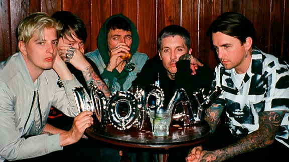 Die Band Bring Me The Horizon aus England.