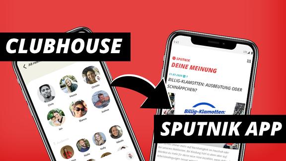 Vergleich der Clubhouse- und der SPUTNIK-App