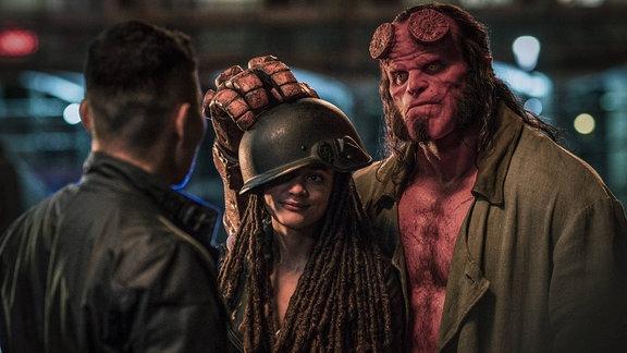 Szene aus dem Hellboy Film.