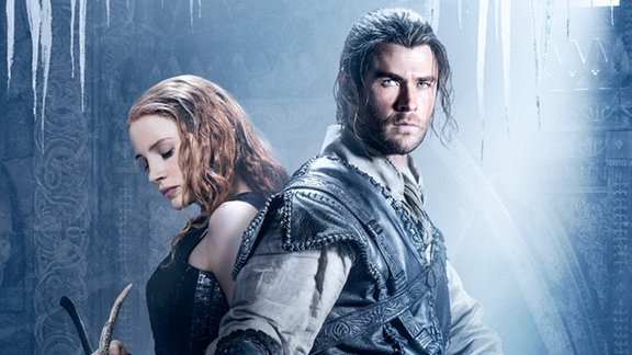 Huntsman and the Ice Queen auf dem Cover sind Chris Hemsworth und Jessica Chastain