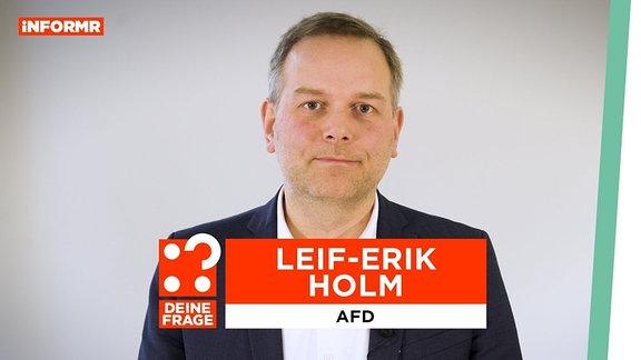 Ein Portrait von Leif-Erik Holm