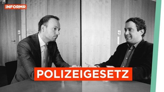 Nikolas Löbel (CDU) und Niema Movassat (DIE LINKE) diskutieren.
