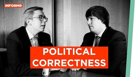 Andreas Bleck (AfD) und Philipp Amthor (CDU) diskutieren.