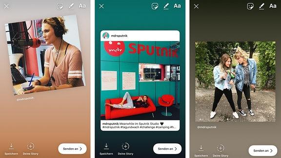 Drei Instagram Posts von MDR SPUTNIK.