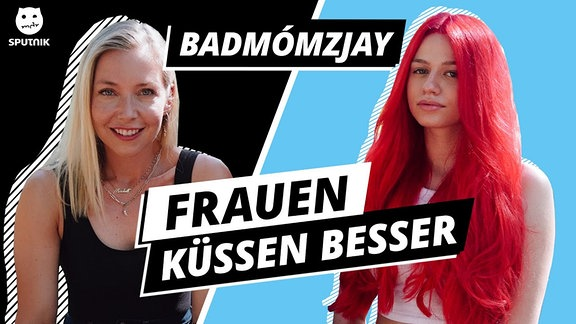 Links Sissy, rechts Badmomzjay.