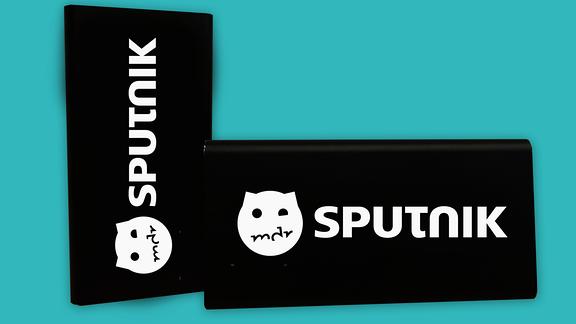Powerbank mit MDR SPUTNIK Logo