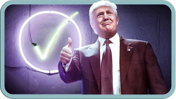 Donald Trump mit Daumen nach oben