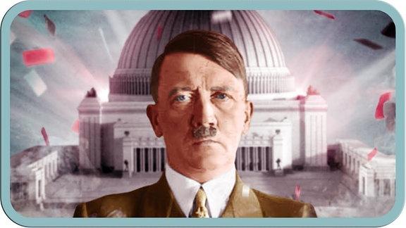 Ein Portrait von Adolf Hitler.