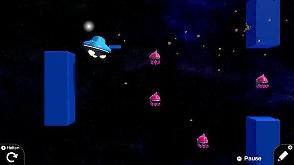 Szene aus einem programmierten Game.