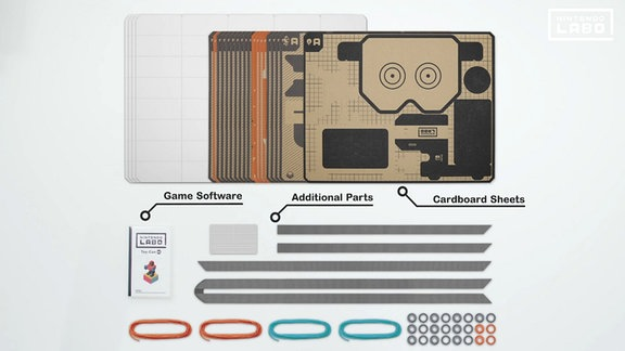 Bedruckte Bastelpappe von Nintendo.