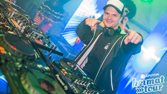 Ein DJ auf der SPUTNIK Heimattour in Lochau.