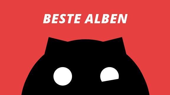 """Ein Sputnikon vor rotem Hintergrund mit der Aufschrift """"Beste Alben"""""""