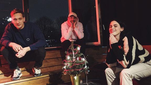 Die beiden von Radio mit K mit Gast Salwa Houmsi