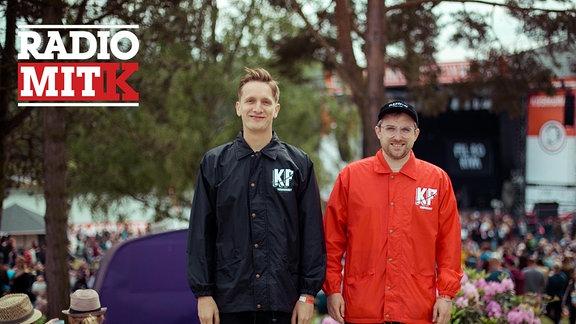 Felix Brummer und Steffen Israel von Kraftklub auf dem Kosmonaut-Festival