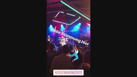 Ausschnitt einer Instagram Story beim SPUTNIK Konzert mit Alice Merton