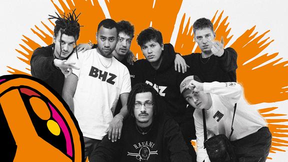 Promobild der Rap-Formation BHZ für den SPUTNIK Spring Break 2020.