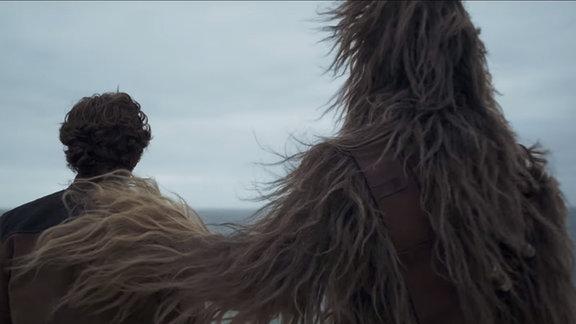 Chewbaka umarmt Han Solo