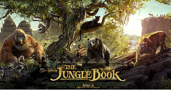 Titelbild zu The Jungle Book mit Mogli, Shir Khan, Balu, Bagira und King Loui