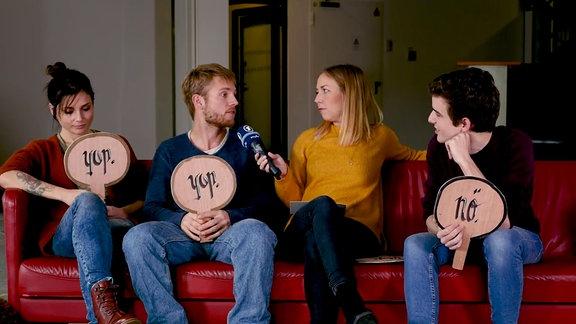Linda, Niklas und Max von GZSZ im Interview mit Sissy