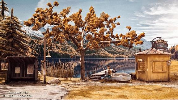 Szene aus dem Computerspiel Trüberbrook.