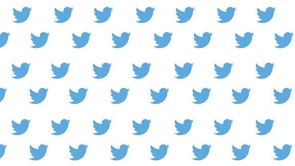 Das Twitter-Logo in mehrfacher Ausführung