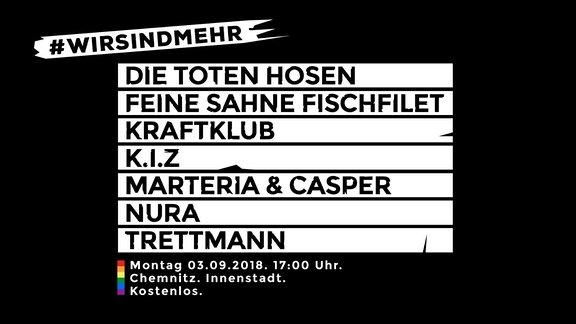 #wirsindmehr Konzert in Chemnitz