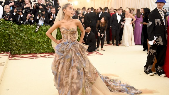 Ariana Grande @Fashion & The Catholic Imagination Costume Institute Gala des Metropolitan Museum of Art  7.5. 2018 in N.Y.C.