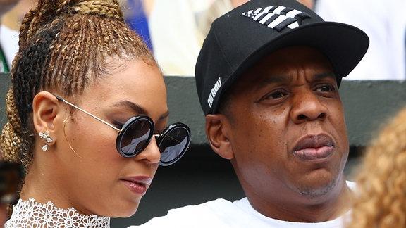 Beyoncé und Jay-Z in Wimbledon beim Tennis gucken