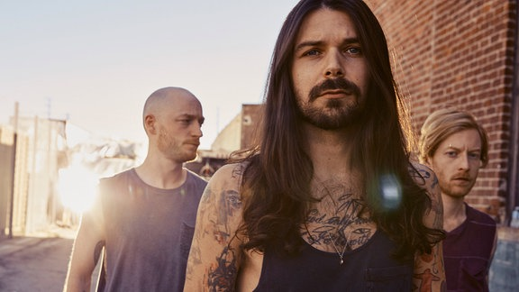 Simon Neil, Ben Johnston und James Johnston sind Biffy Clyro aus Schottland