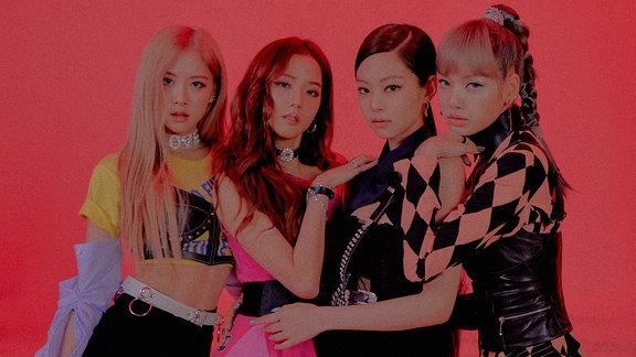 Mädchenband - Das Bild ist Pink eingefärbt.