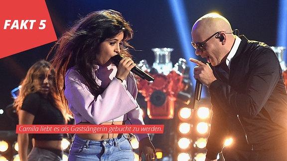 Camila Cabello und Pit Bull bei den MTV Awards @Shrine Auditorium