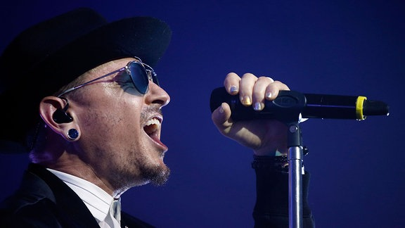 Chester Bennington @CBS Radio's two-night, Las Vegas