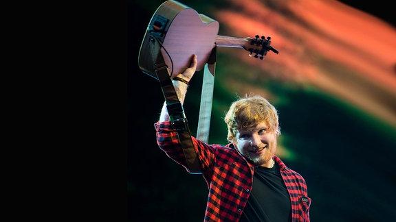 Ed Sheeran beim Glastonbury Festival 2017/England