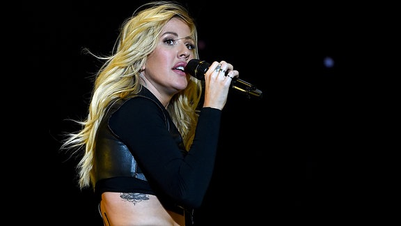 Ellie performt beim Coachella Festival in Indio/Kalifornien