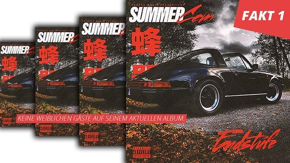 """Summer Cem Album """"Endstufe"""", das Cover zeigt einen Porsche 911 Targa"""