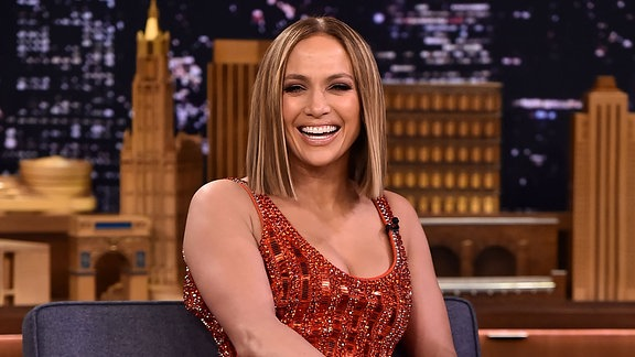 Jennifer Lopez bei Jimmy Fallon im Rockefeller Center, N.Y.C.