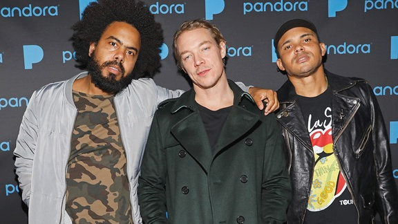 Die DJs Jillionaire, Diplo & Walshy Fire von Major Lazer in L.A