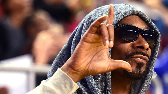 Snoop Dogg, beim einem Basketballspiel im Galen Center/L.A.