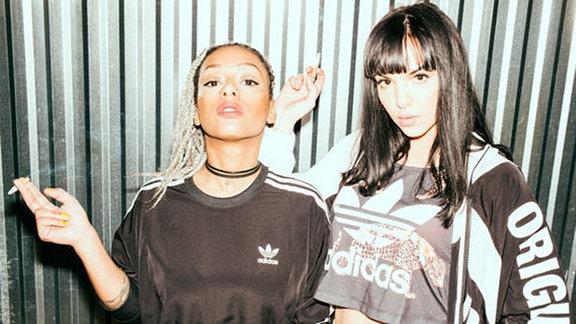 SXTN, Hip-Hop-Duo aus Berlin, bestehend aus Juju und Nura