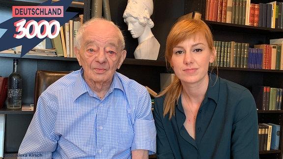 Eva Schulz mit dem Holocaust-Überlebenden Justin Sonder.