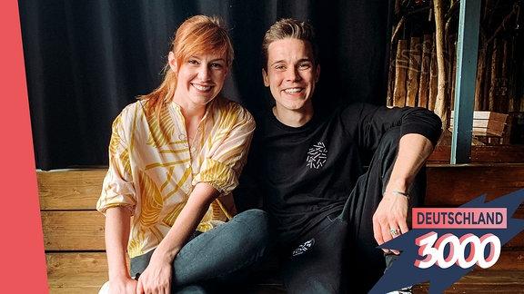 Felix Jaehn und Eva Schulz im Gespräch für den Podcast Deutschland3000.